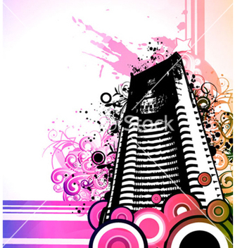 Free abstract urban background vector - Kostenloses vector #263817