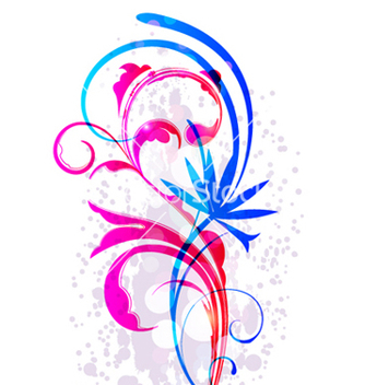 Free colorful floral elements vector - vector #263877 gratis
