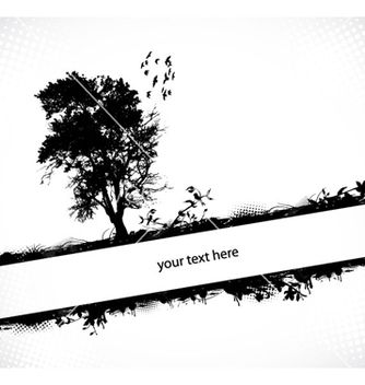 Free grunge background with tree vector - vector #263907 gratis