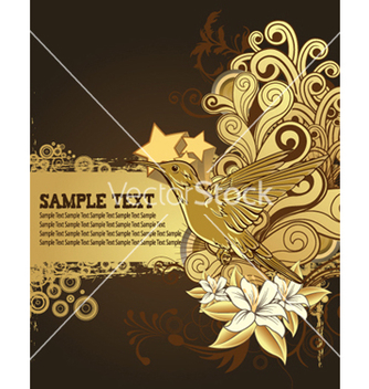 Free hummingbird with floral background vector - vector gratuit #263937