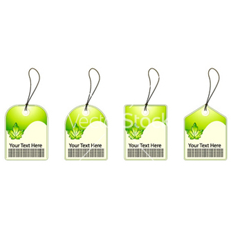 Free green shopping tags set vector - vector gratuit #264067