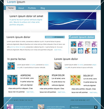 Free modern website template vector - vector gratuit #264267