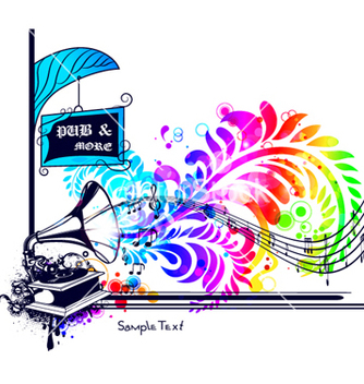 Free colorful music vector - vector #264467 gratis