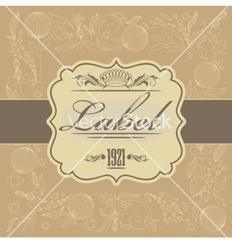 Free vintage label vector - бесплатный vector #264537