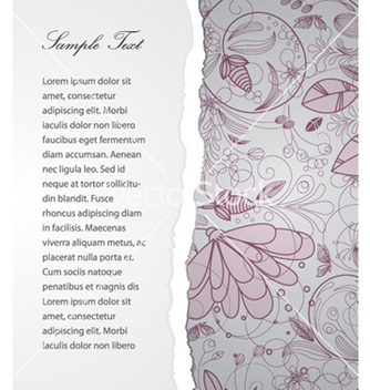 Free torn cardboard with floral vector - Free vector #264667