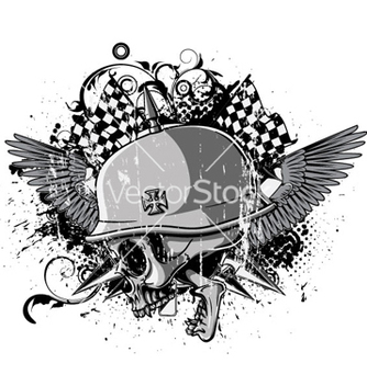 Free skull with wings vector - Free vector #264747