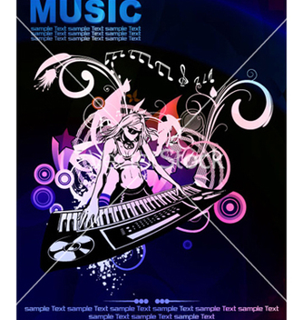 Free colorful concert poster vector - Free vector #264927