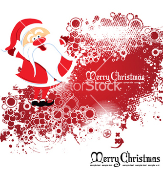 Free santa with grunge vector - Free vector #264937