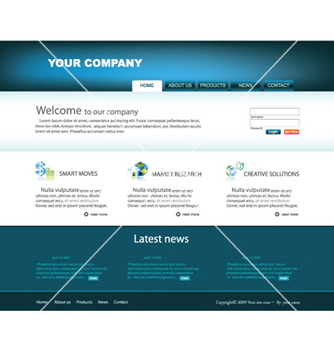 Free glossy website template vector - Free vector #265147