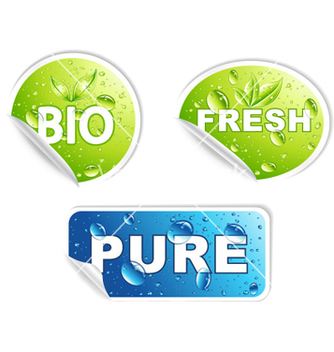 Free bio stickers set vector - бесплатный vector #265207