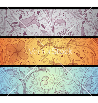 Free floral banners set vector - Kostenloses vector #265287
