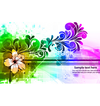 Free colorful abstract background vector - Kostenloses vector #265317