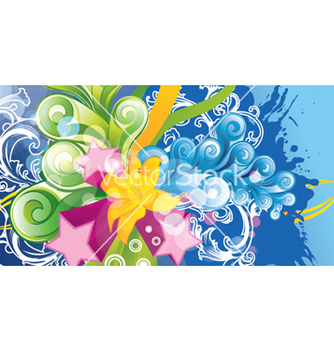 Free colorful floral background vector - vector #265507 gratis