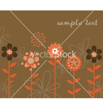 Free retro floral background vector - vector gratuit #265557
