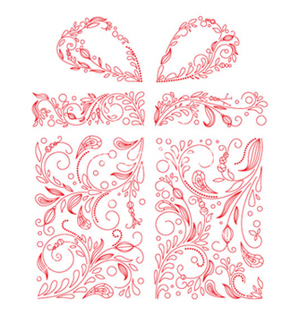 Free gift box made of floral vector - vector #265947 gratis