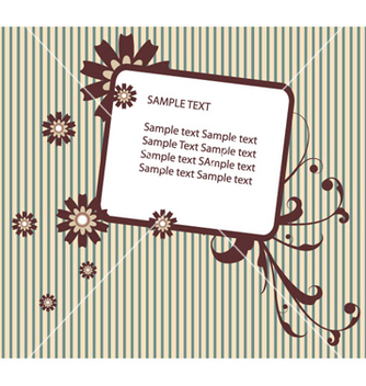 Free retro floral frame vector - Free vector #265997