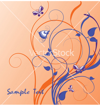 Free fantasy floral background vector - Free vector #266197