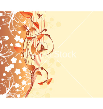 Free retro floral background vector - Free vector #266277