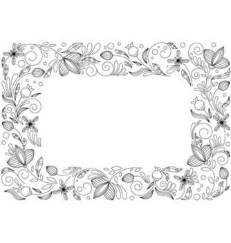 Free abstract floral frame vector - Free vector #266347