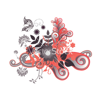 Free abstract floral design vector - Kostenloses vector #266357