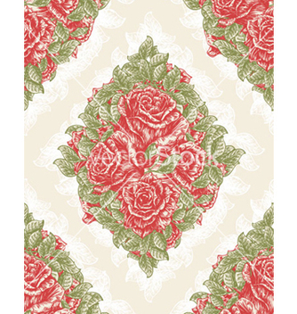 Free vintage seamless floral wallpaper vector - бесплатный vector #266407