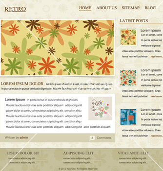 Free retro website template vector - Free vector #266577