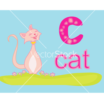 Free animal alphabet c with cat vector - vector #266727 gratis