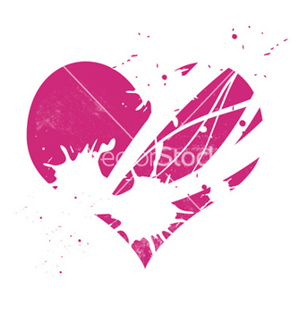Free pink grungy heart vector - Free vector #266747