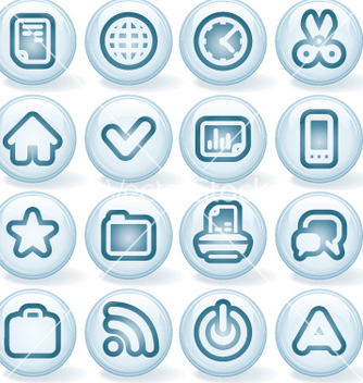 Free shiny buttons 1 vector - Kostenloses vector #266777