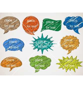 Free speech bubbles vector - vector gratuit #266857
