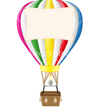 Free hot air balloon vector - vector gratuit #266887