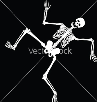 Free dancing skeleton vector - Free vector #266947