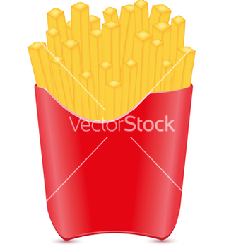 Free fries potato isolated on white background vector - vector gratuit #266977
