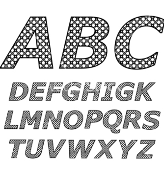 Free black and white alphabet vector - vector gratuit #267007