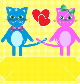 Free love cats vector - бесплатный vector #267037