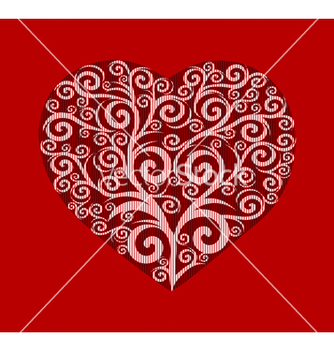 Free stylish heart valentines vector - бесплатный vector #267057