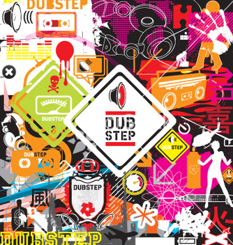 Free dubstep flyer design elements vector - Free vector #267137