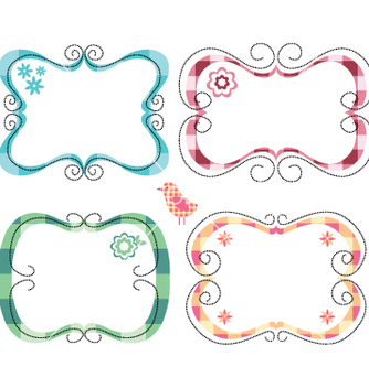 Free cute frames vector - Free vector #267147
