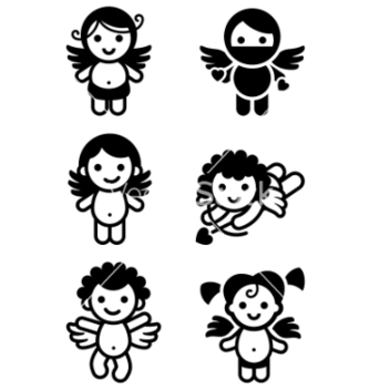 Free cupid angels vector - Free vector #267177