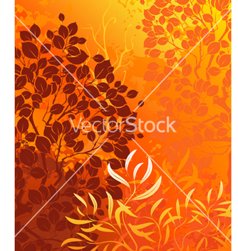 Free orange background with bright autumn aspens and de vector - бесплатный vector #267317