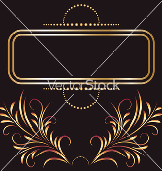 Free golden ornament vector - Kostenloses vector #267347