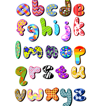 Free patterned lower case alphabet vector - Free vector #267397