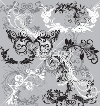 Free floral scrip filigrees vector - Free vector #267457