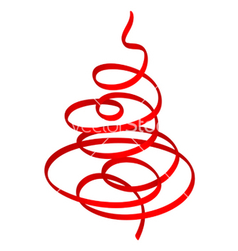 Free christmas tree red ribbon vector - бесплатный vector #267477