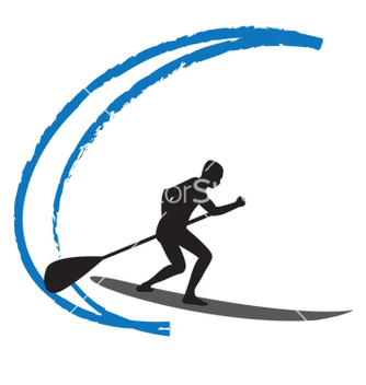 Free stand up paddle boarding vector - vector gratuit #267497