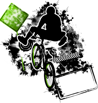 Free bmx cyclist template vector - бесплатный vector #267537
