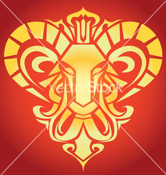 Free golden aries vector - vector gratuit #267597