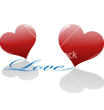 Free two loving hearts vector - бесплатный vector #267657