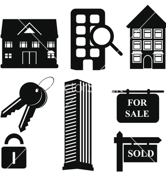 Free real estate icons vector - vector #267827 gratis