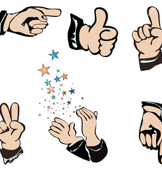 Free hands pointing vector - vector gratuit #267897